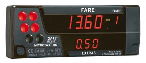 Image of taxi meter device